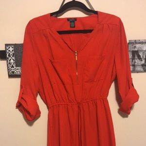 Rue 21 red dress with gold zipper